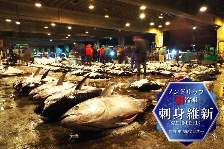 鹿児島魚類市場内